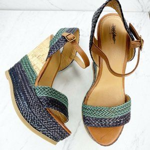 Mossimo Braided Platform Wedge Heels Sandals Shoes
